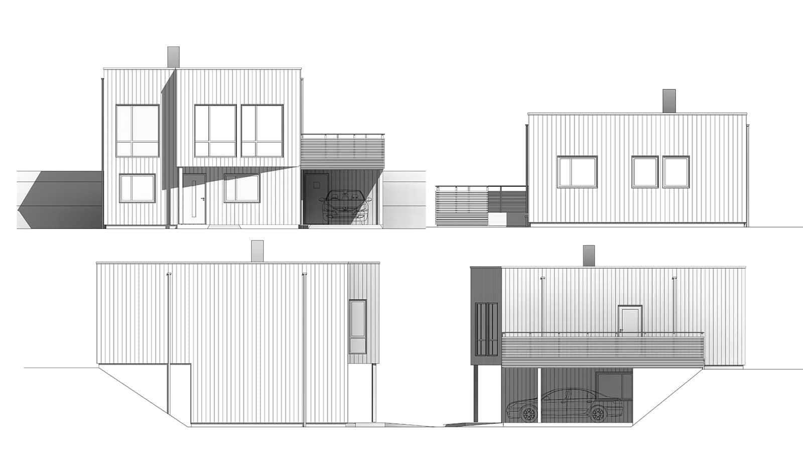 Fasadetegninger av Cafelatte