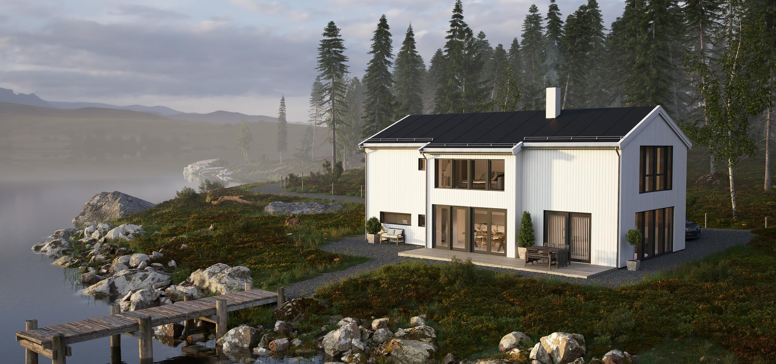 Bilde av ferdighusmodellen Mandel