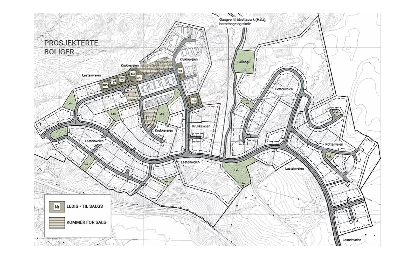 Leidlandshagen – prosjekterte boliger